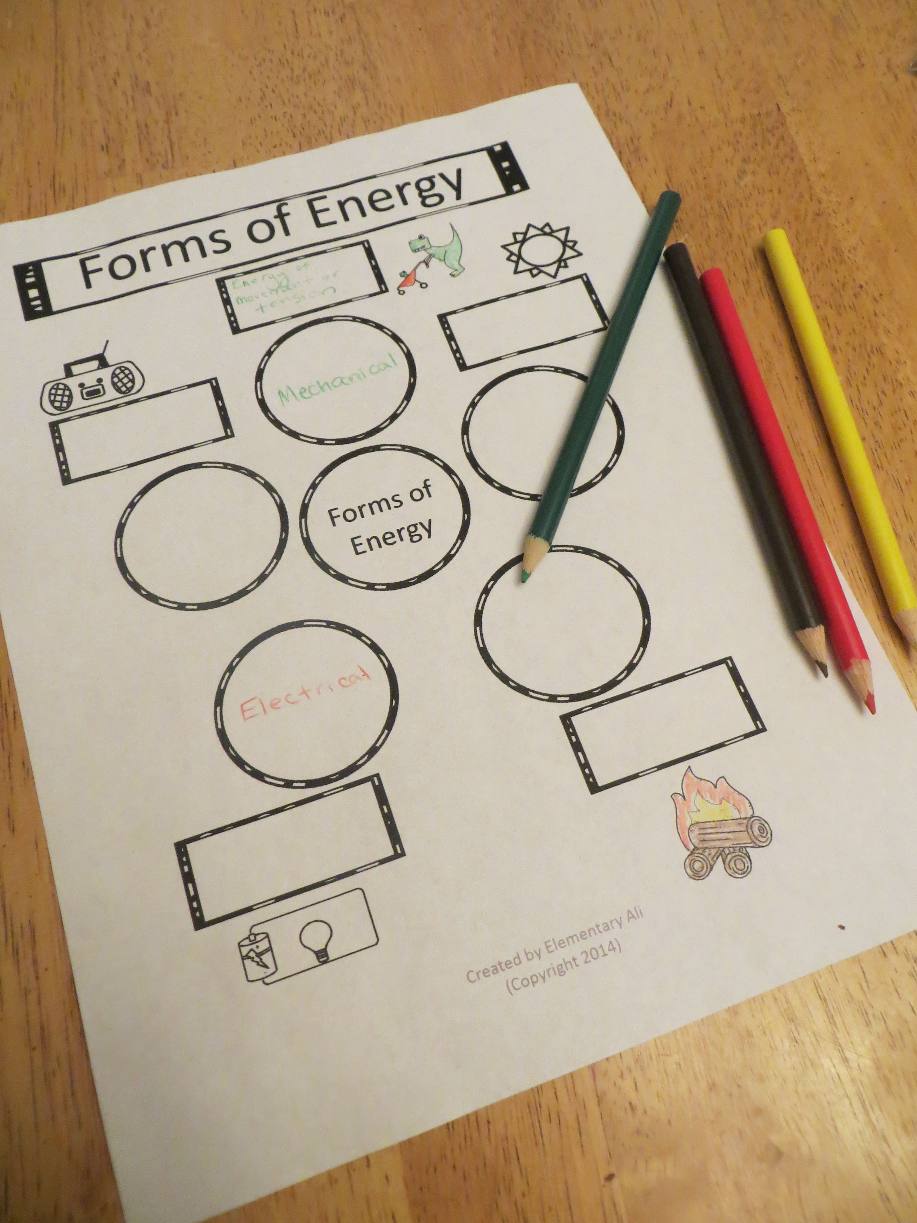 Week Seven Science Lessons Forms Of Energy