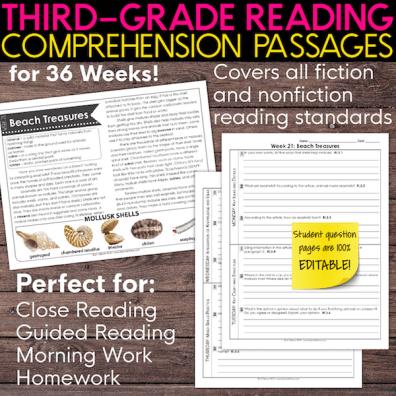 3rd grade reading comprehension