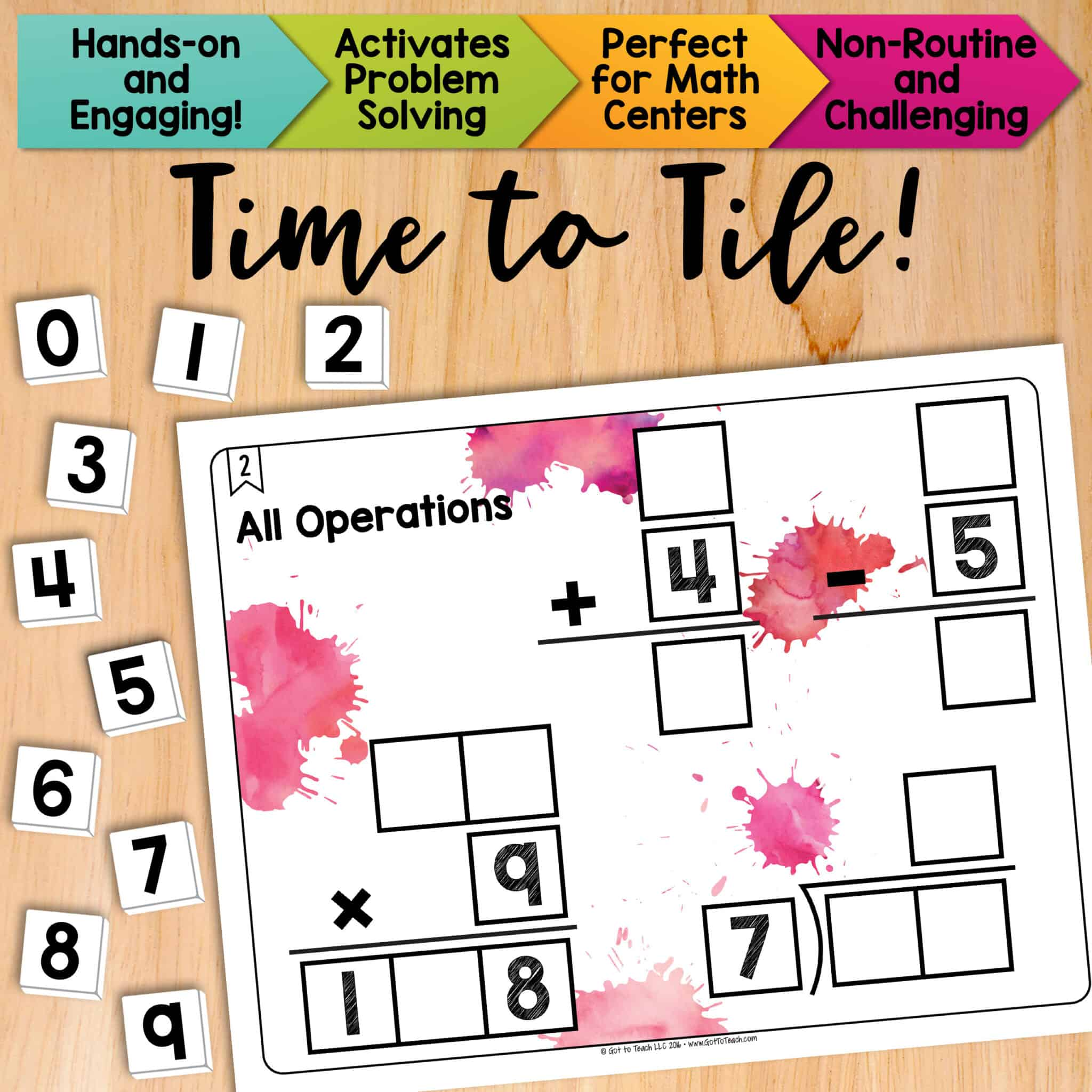 Math Tiles All Operations Add Subtract Multiply