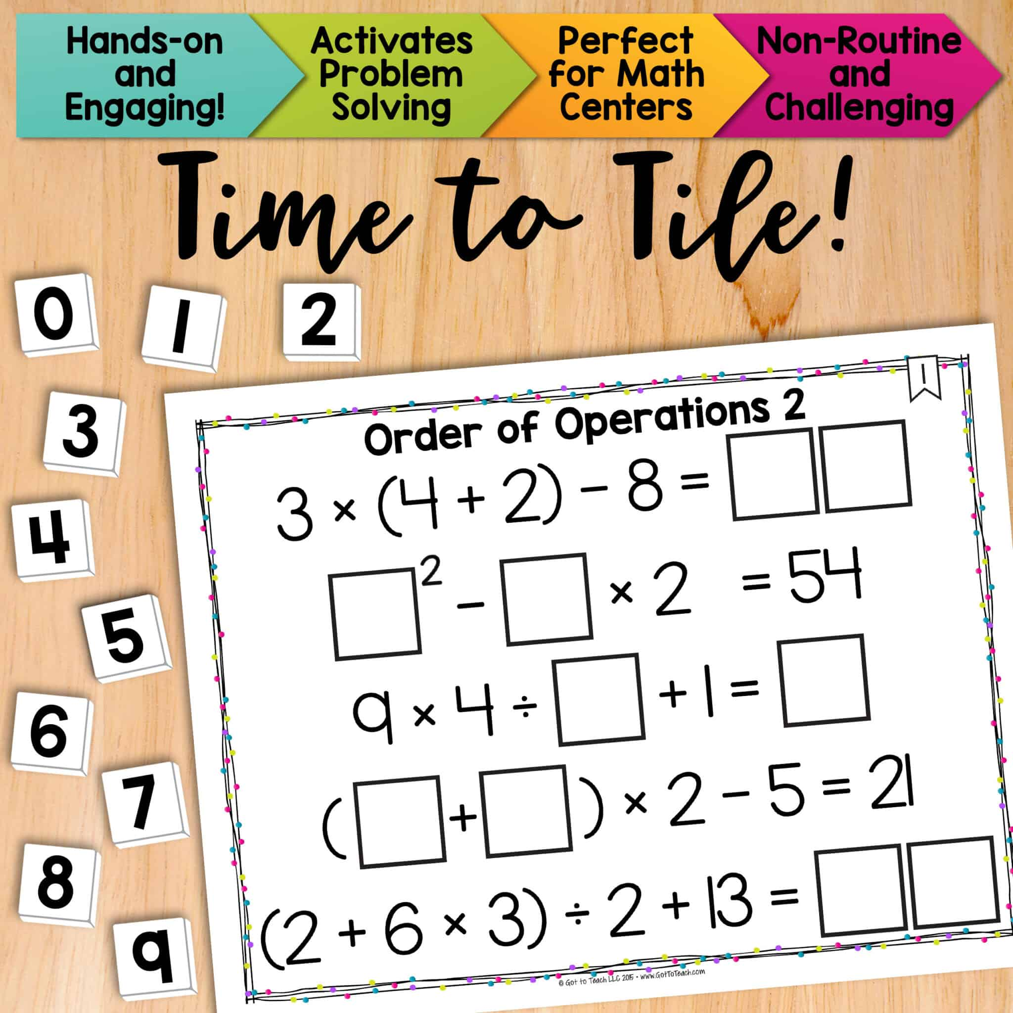 Math Tiles Order Of Operations With Exponents Teacher