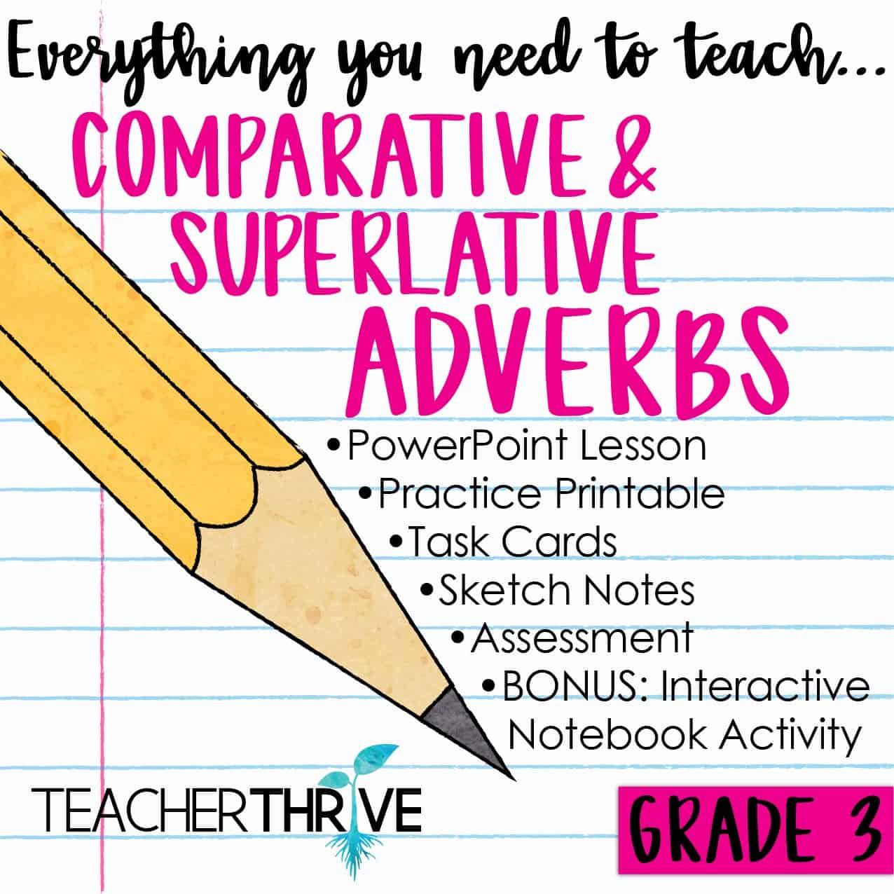 Third Grade Grammar Comparative And Superlative Adverbs