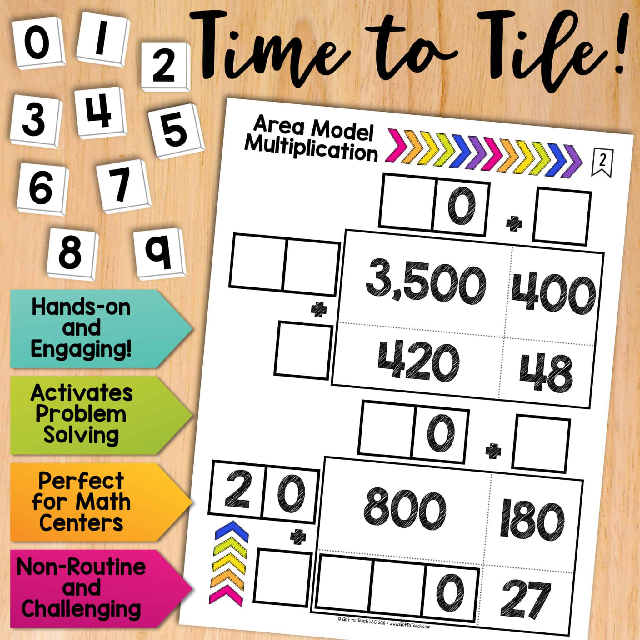 Math Tiles Area Model Multiplication Teacher Thrive