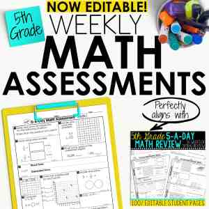 5th grade math assessments