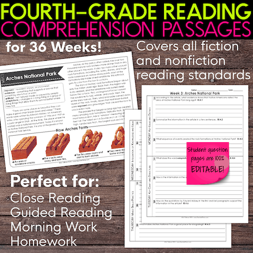 4th grade reading comprehension