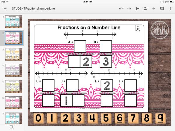 Fractions Number Line