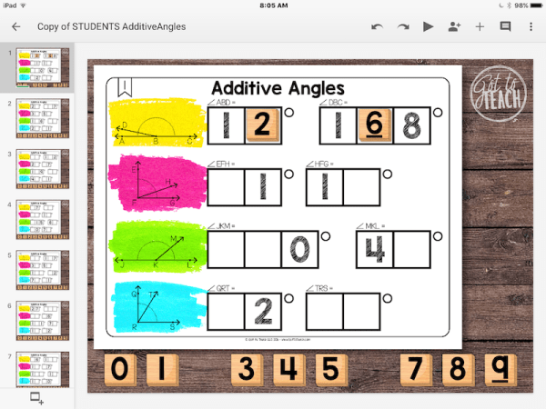 Math Tiles: Additive Angles