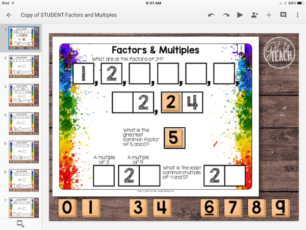 Factors Multiples