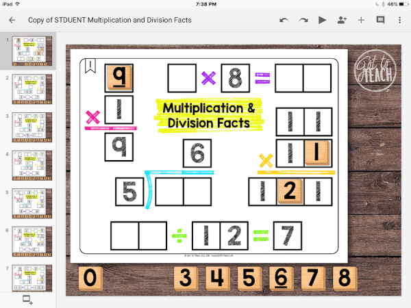 Multiplication Division Facts
