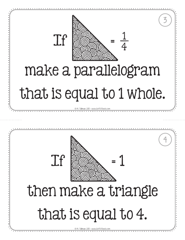 tangram fractions