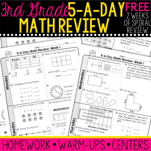 third grade daily math spiral review