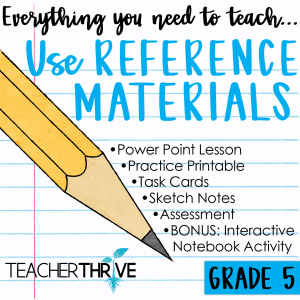 use reference materials