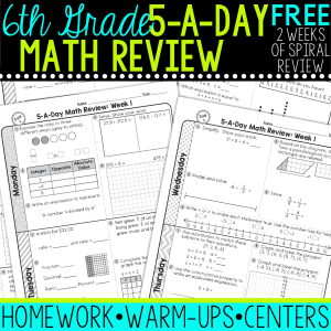 6th Grade daily math spiral review