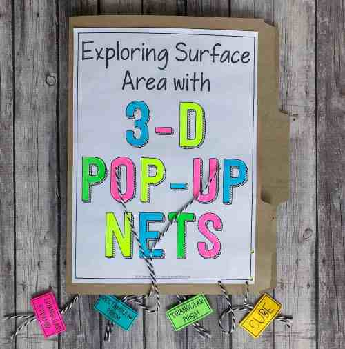 3D pop up nets for surface area