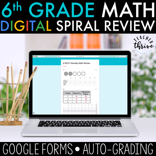 6th grade digital spiral review