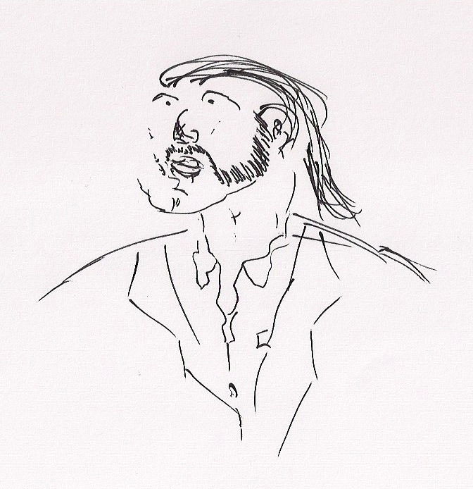 Sketch of Chris Foley ß - 2011