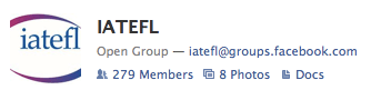 Badge link to IATEFL group on facebook