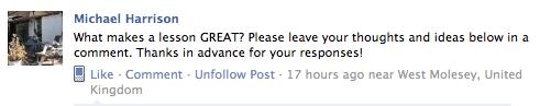 The original question on IATEFL's Facebook page