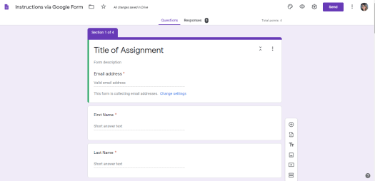 Google Forms to make Lessons