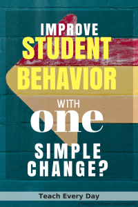 Is it possible to improve student behavior with one simple change?