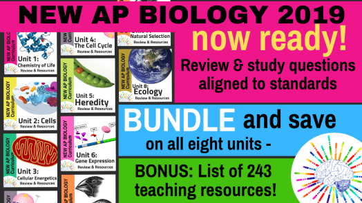 New AP Biology Curriculum Unit Review Guides