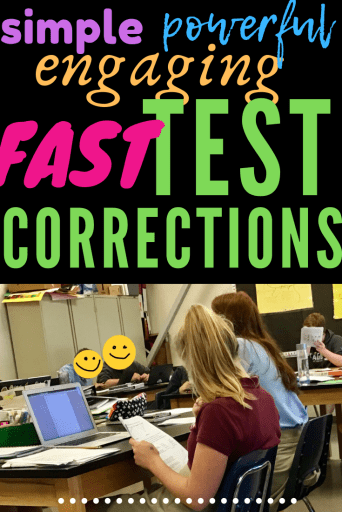 The Best way to do Test Corrections: Simple, fun, engaging and fast