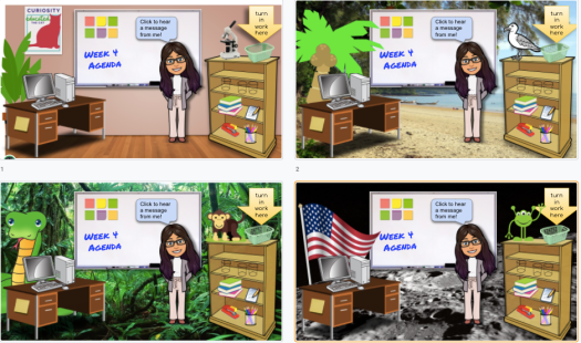 Use all types of backgrounds to make your bitmoji virtual classroom with Google Slides!