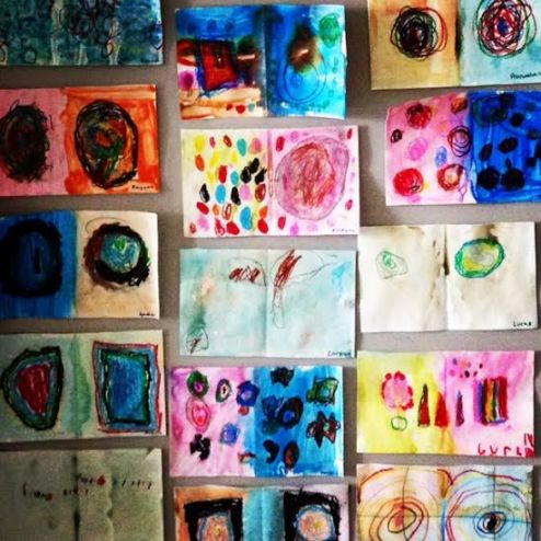 International Dot Day is very special, and our artwork is beautiful; however, I wonder - is it possible to create a non-fiction version with everyday objects? How does this art activity help connect children's interests and experiences to the world around them?