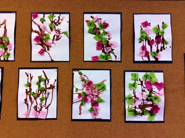 Our cherry blossoms look beautiful, BUT - where are student reflections and photographs of the process?