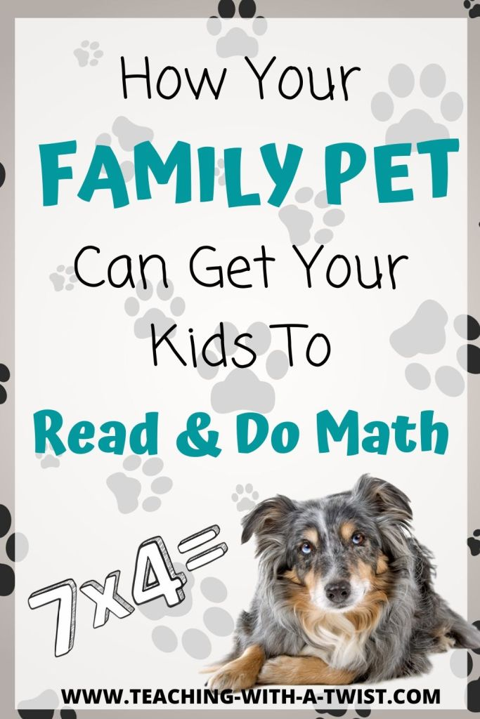 Tired of trying to get your kids to read and do math? Involve your pet and watch how the family dog or cat can add a little motivation.