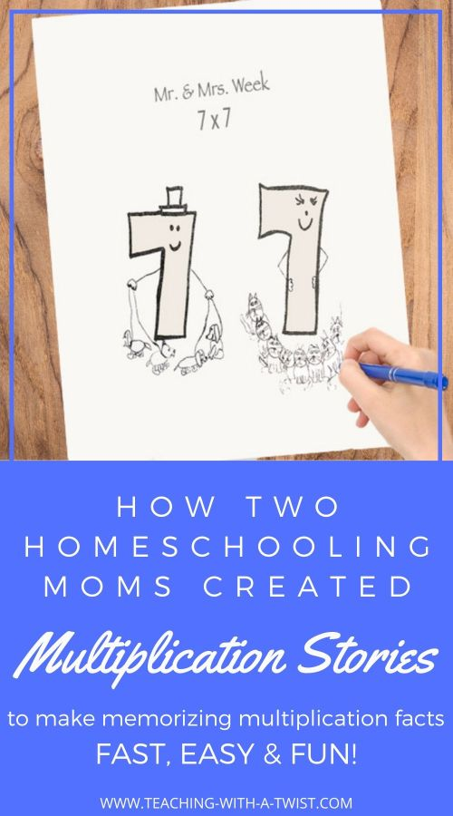 Two Homeschooling Moms Create Multiplication Stories