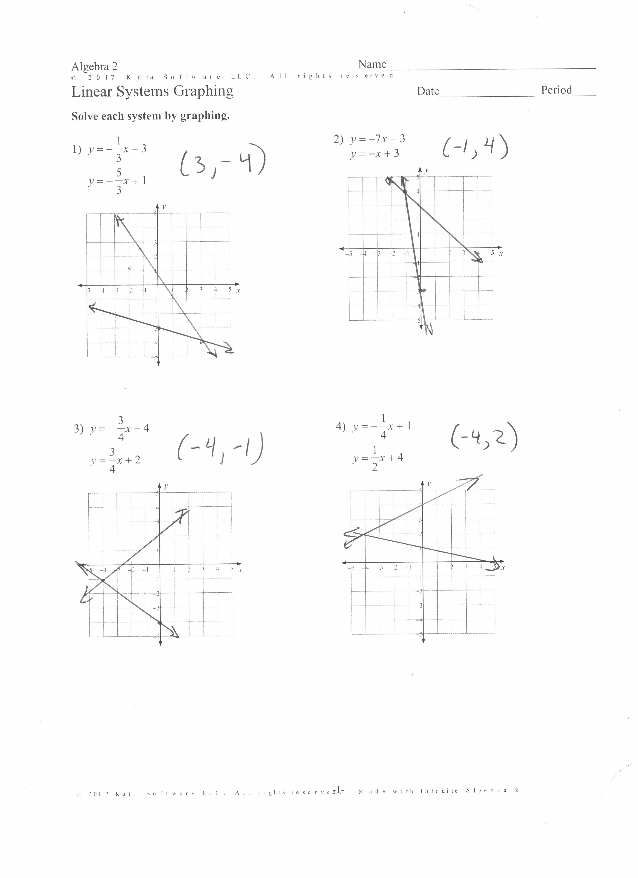 Algebra Ii Assignments