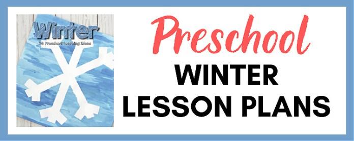 preschool winter lesson plans