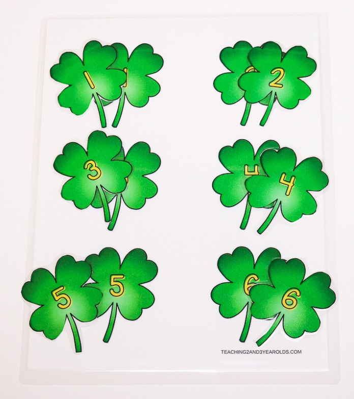 Printable St. Patrick's Day Counting Activity for Circle Time