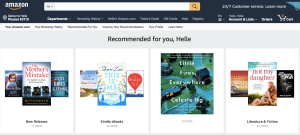 Personalised product recommendations on Amazon