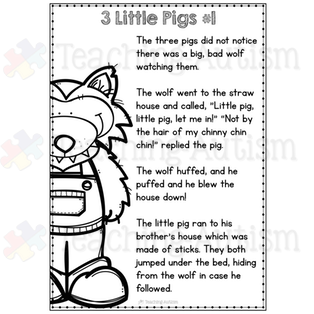 image relating to Three Little Pigs Printable named 3 Very little Pigs Recreation Package deal