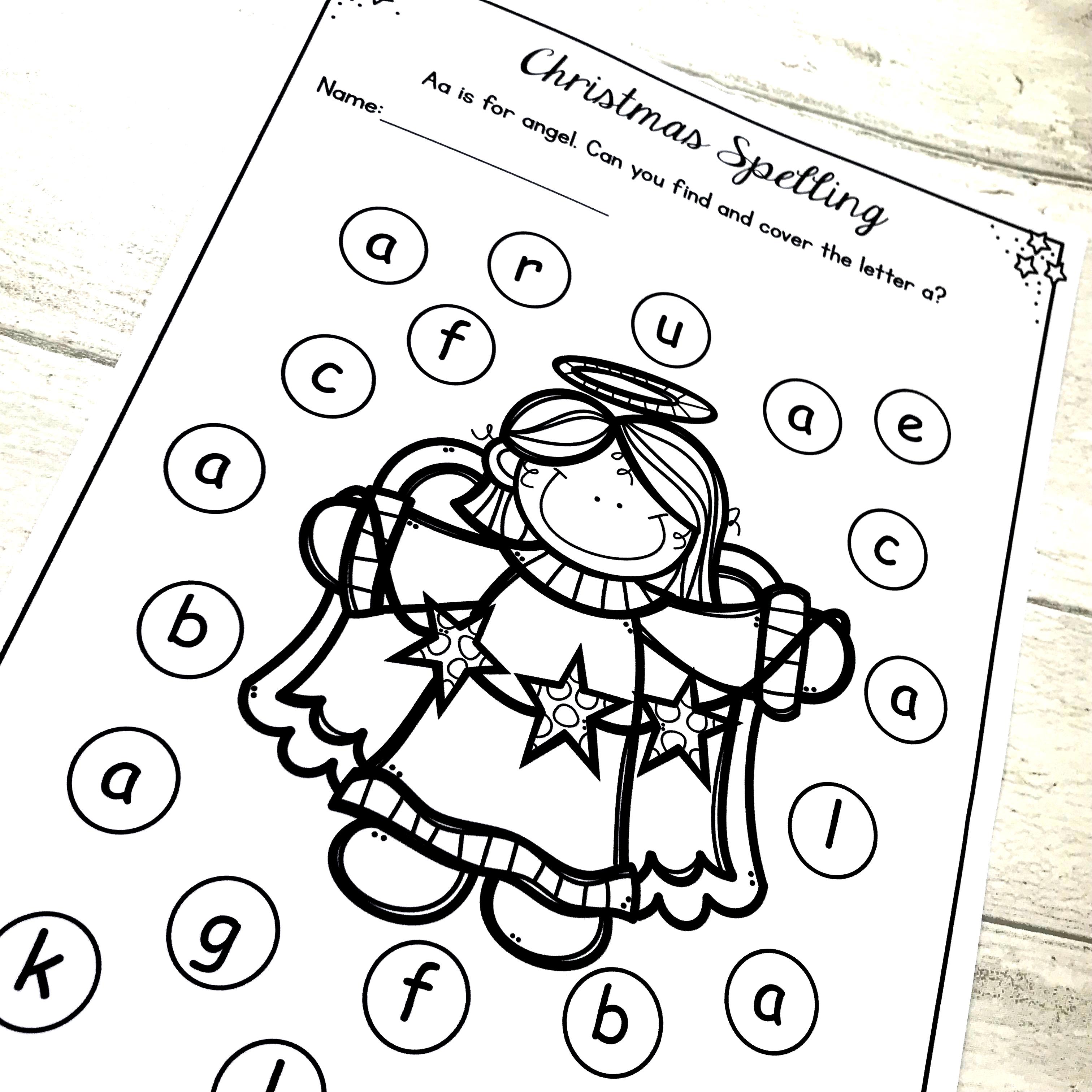 Christmas Activities Literacy Worksheets No Prep