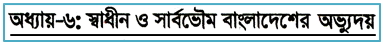 Emergence of an independent and sovereign Bangladesh: HSC Islamic History and Culture 2nd MCQ Question With Answer