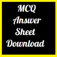MCQ Answer Sheet Download