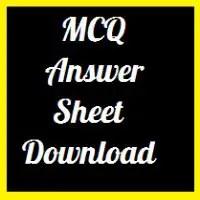 Board MCQ Answer Sheet Download