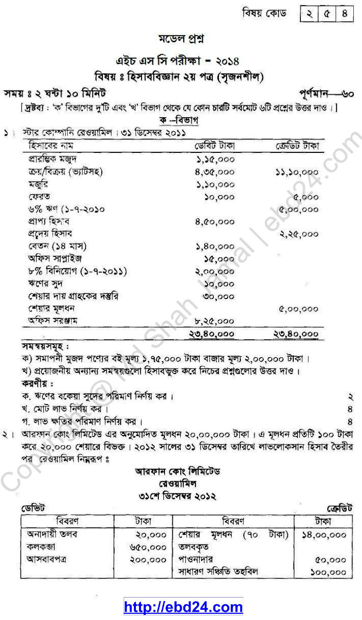 Accounting Suggestion HSC 2014 (1)
