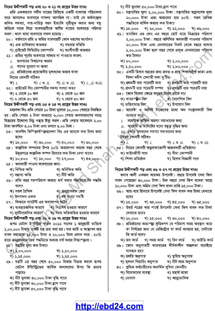 Accounting Suggestion and Question Patterns of HSC Examination 2014 (7)