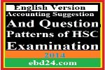 English Version Accounting Suggestion and Question Patterns of HSC Examination 2014