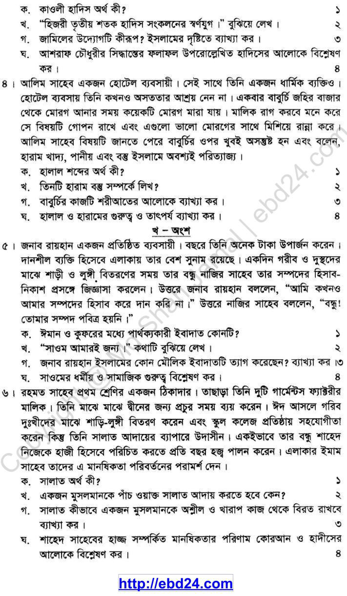 Islam Shikkha Suggestion and Question Patterns of SSC Examination 2014 (2)