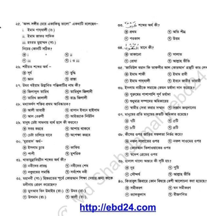 Islam Shikkha Suggestion and Question Patterns of SSC Examination 2014 (5)