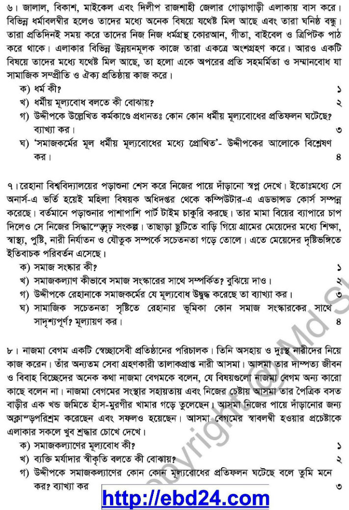 Social Welfare Suggestion and Question Patterns of HSC Examination 2014 (3)