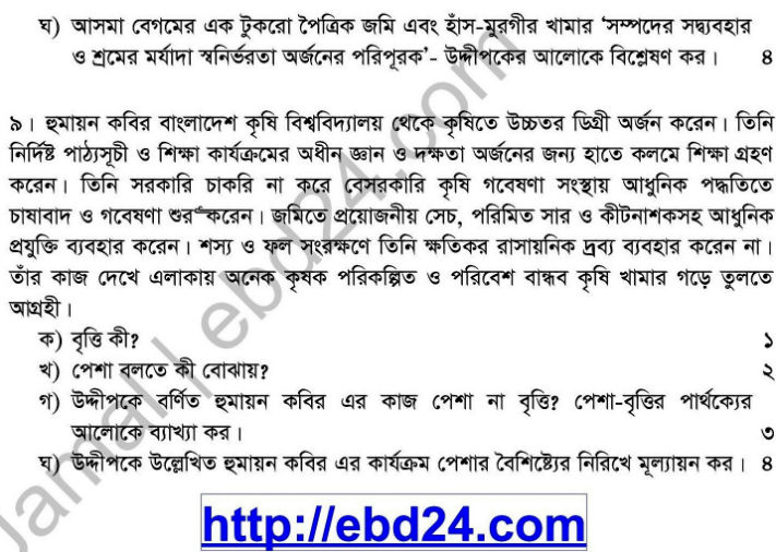 Social Welfare Suggestion and Question Patterns of HSC Examination 2014 (4)