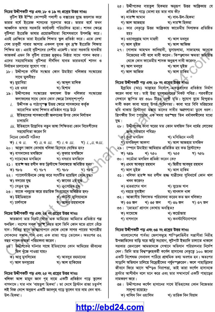 Islamic History- 1st HSC Suggestion and Question Pattern of Examination 2014 (5)
