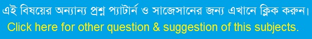Bannor Dinguli: HSC Bengali 1st Paper MCQ Question With Answer