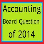 Accounting Board Question of 2014
