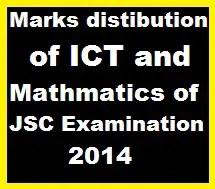 Marks distibution of ICT and Mathmatics